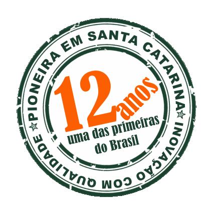 SELO COMEMORATIVO 12 ANOS-COM PIONEIRA EM SC